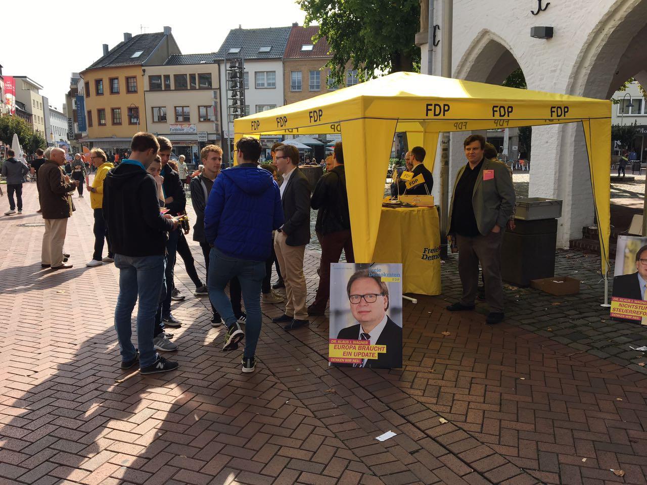 Marktstand zur Landtagswahl